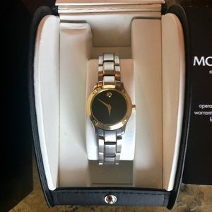 Movado Millennium Two Tone Watch